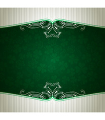 green card with shamrock, vector illustration