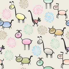 toy animal seamless background