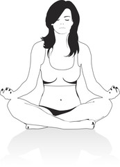girl in a pose of meditation