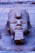 Close up of sculpture on Great Temple of Ramses II, Abu Simbel, UNESCO World Heritage Site, Egypt