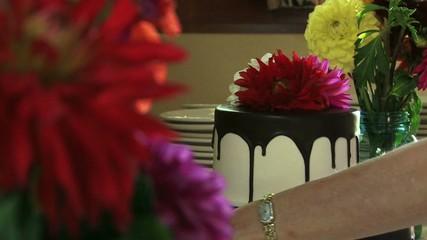 Flowers and Wedding Cake