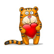 Fun tiger with heart