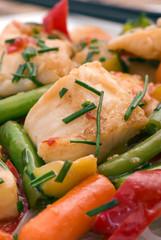 Thai Fischpfanne mit Gemüse