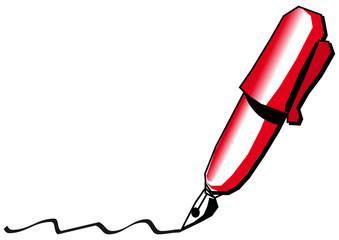 pluma estilografica escritura