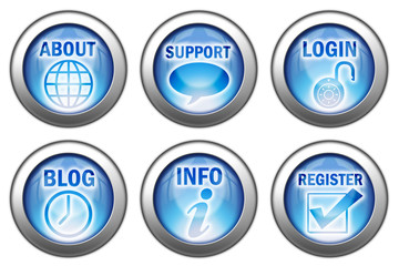 Set Of 6 Home Page Buttons