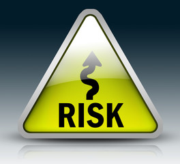 """Glossy 3D Style Sign """"Risk"""""""