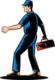 Mechanic tradesman repairman poster
