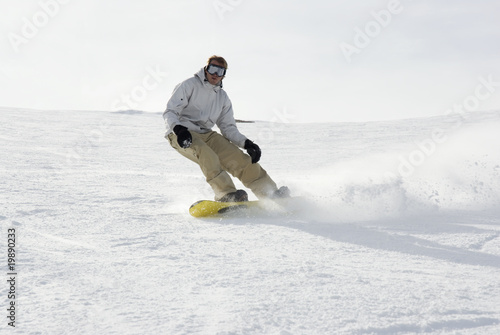 Snowboarding in the pyrenees