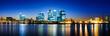 Canary Wharf night panorama (London, UK)