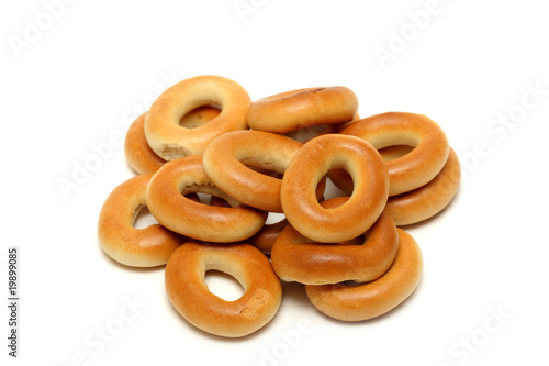 Bread-rings isolated on white