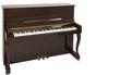 Leinwanddruck Bild - Braunes Klavier isoliert