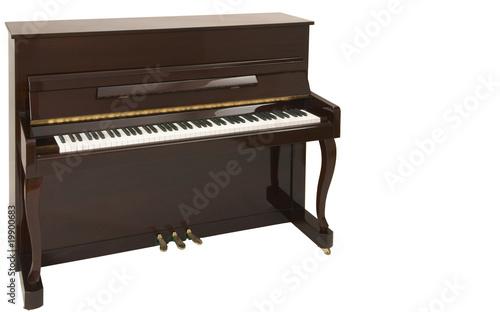 Leinwanddruck Bild Braunes Klavier isoliert