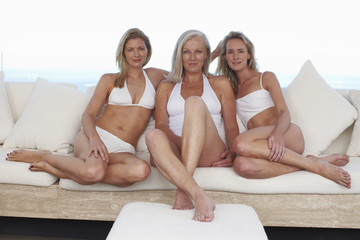 Mother with her adult daughters
