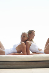Two women relaxing
