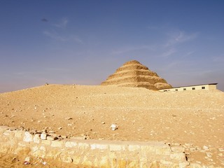 By The Sakkara Pyramid
