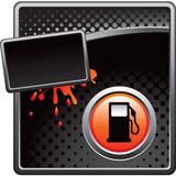 gas icon black halftone splattered advertisement poster