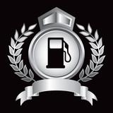 gas icon silver royal display poster