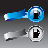 gas icon blue and gray ribbons poster
