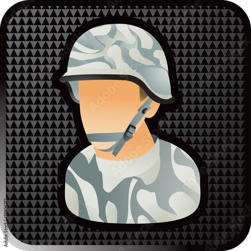 army man black checkered web button