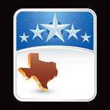 texas state blue star background poster