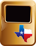 texas state bronze halftone template poster