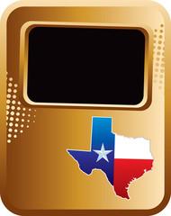 texas state bronze halftone template