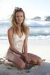 Beautiful model on a beach