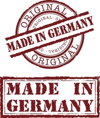 Vector made in germany stamp with red ink