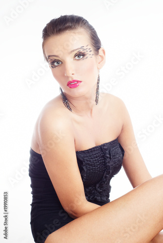 glamour portrait of a beautiful woman