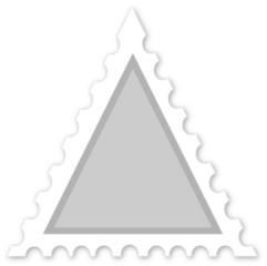 francobollo triangolare