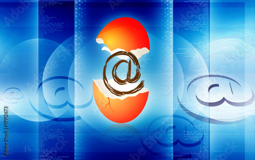 Illustration of internet egg shell