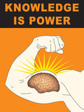 Concept illustration of intelligence and strength poster