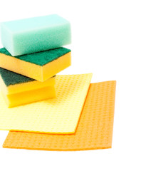 Some kitchen sponges for washing dishes