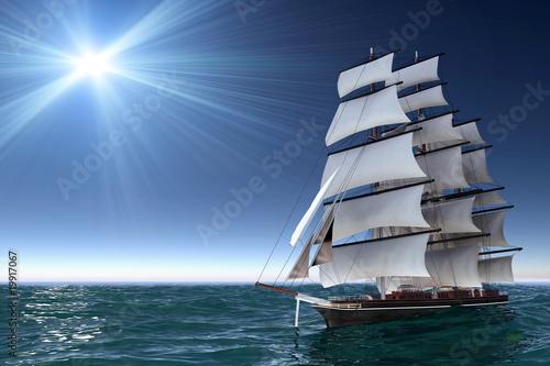 Leinwandbild Motiv Sailing boat
