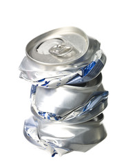 Crushed Aluminium Cans