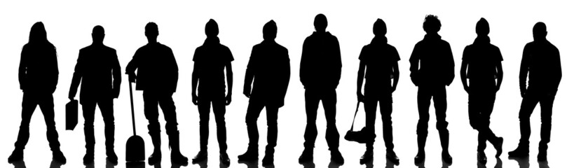 Silhouette of 10 people