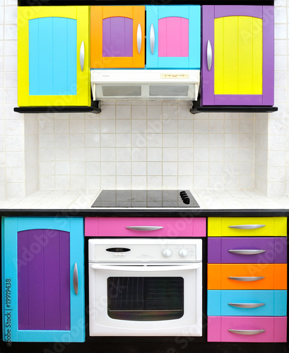 cuisine design color e photo libre de droits sur la banque d 39 images image 19919438. Black Bedroom Furniture Sets. Home Design Ideas