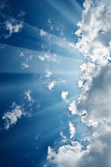 sky with sunbeams