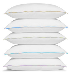 Five pillows. Isolated