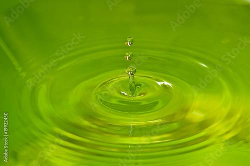 water drop colored