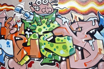 Urban graffiti in Amsterdam the Netherlands