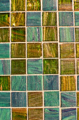 Blue and Green Multi Color Tile Mosaic