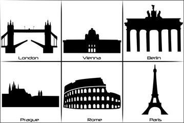 Main European landmarks