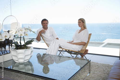 Couple in a luxurious villa
