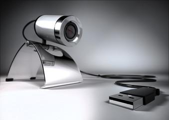3d render of web camera