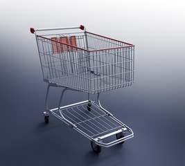 Shopping Cart 3d render