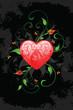 Grunge Valentine's Day card