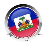 Haiti flag icon in rubble poster