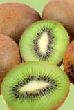 Fuzzy kiwi fruits poster
