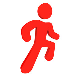 Red Running Person